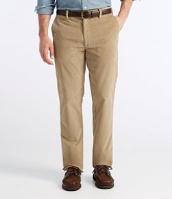 L.L.Bean Stretch Country Corduroy Pants, Classic Fit Plain-Front