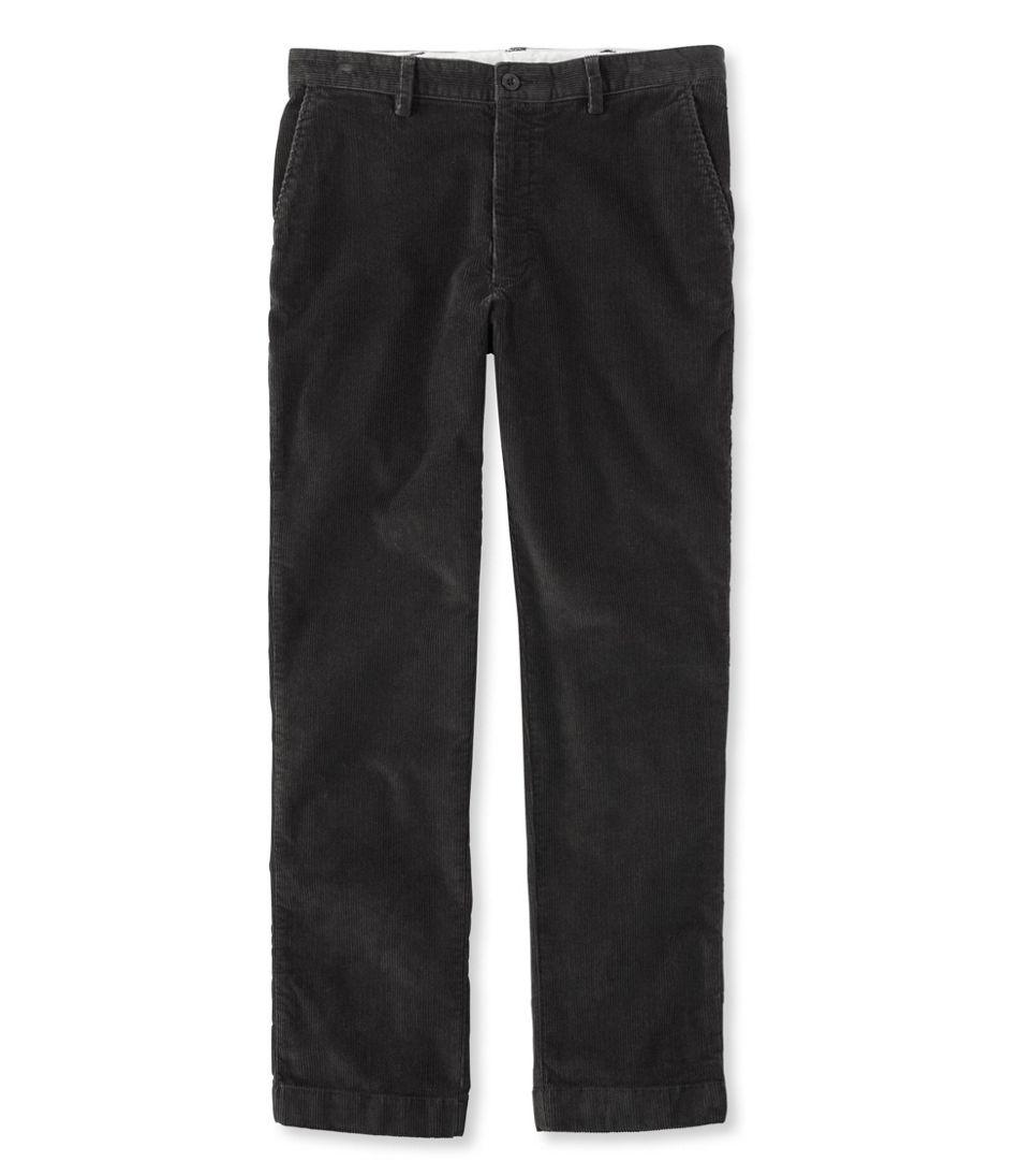 L.L.Bean Stretch Country Corduroy Pants, Classic Fit Plain-Front