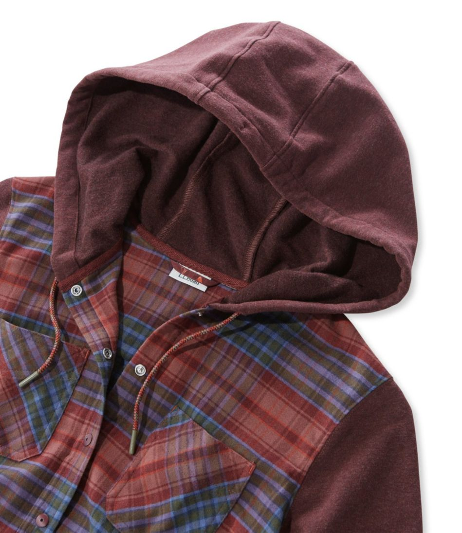Whisper Lodge Cozy Flannel Hoodie Plaid Misses Regular