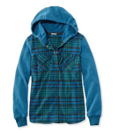 Whisper Lodge Cozy Flannel Hoodie Plaid Misses Regular