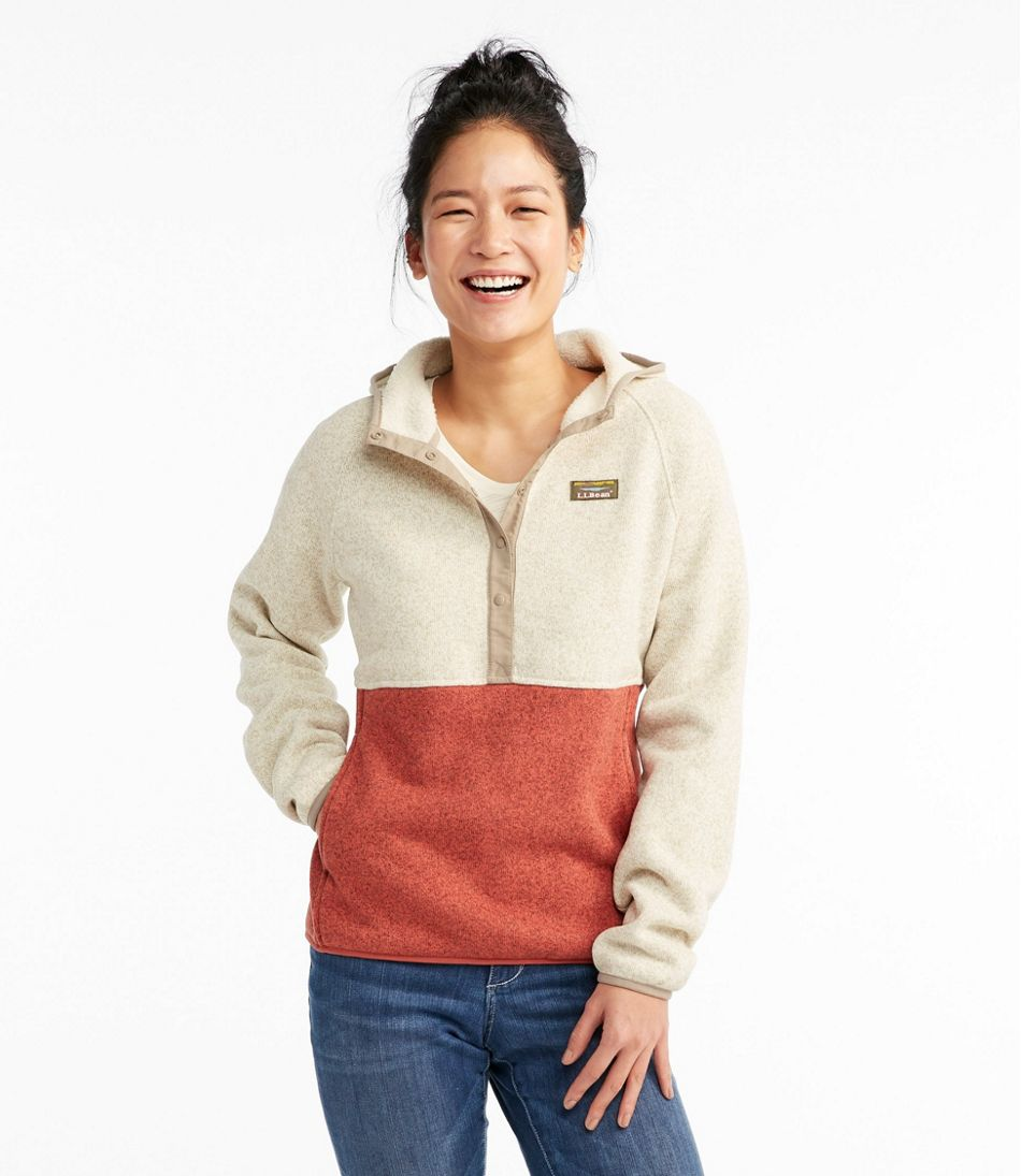 Women's L.L.Bean Sweater Fleece Pullover Hoodie