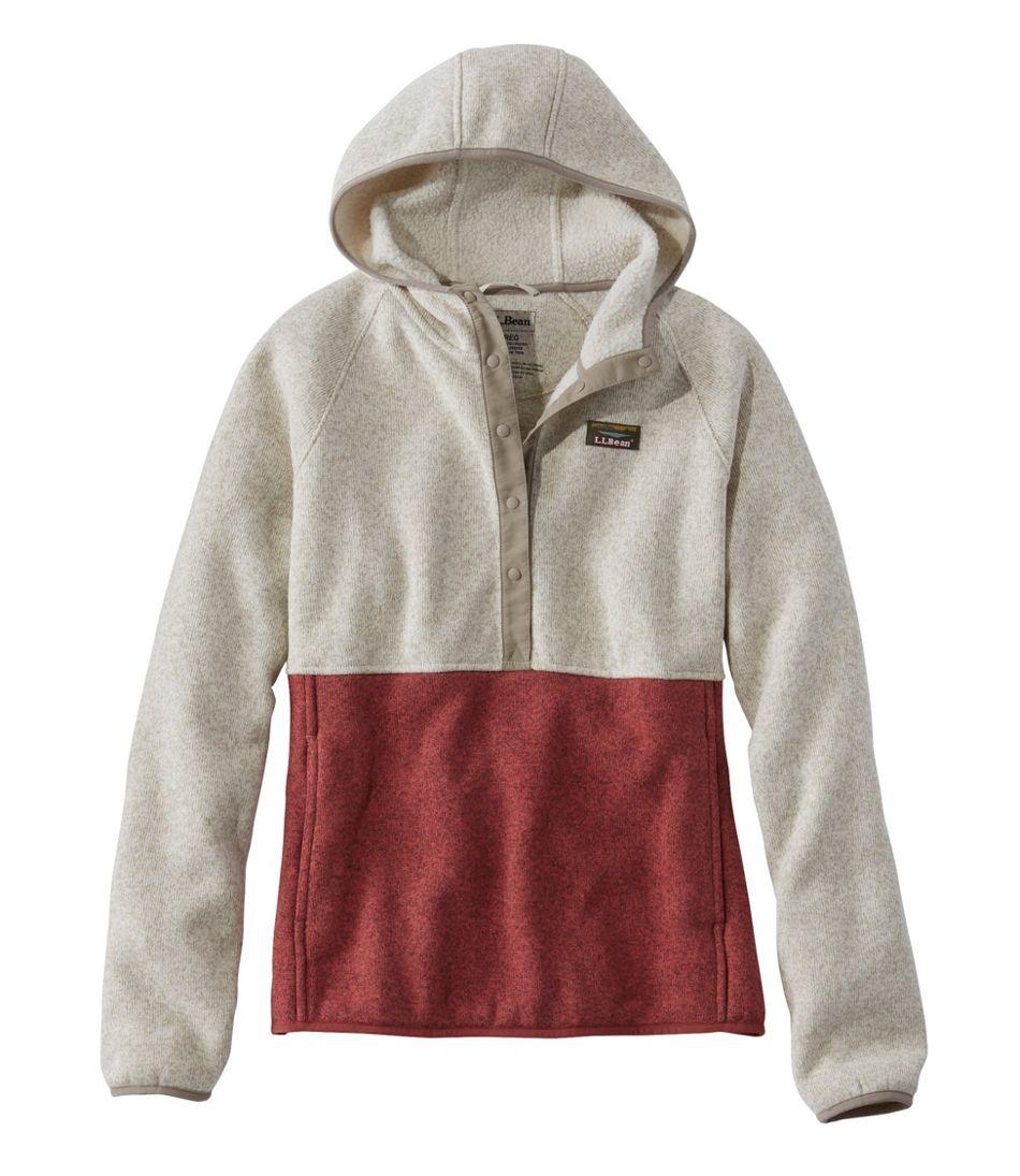 Women's L.L.Bean Sweater Fleece Pullover Hoodie