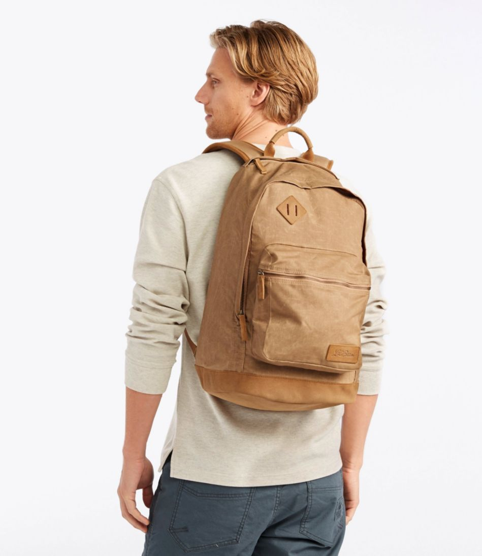 Classic Teardrop Waxed-Canvas Backpack