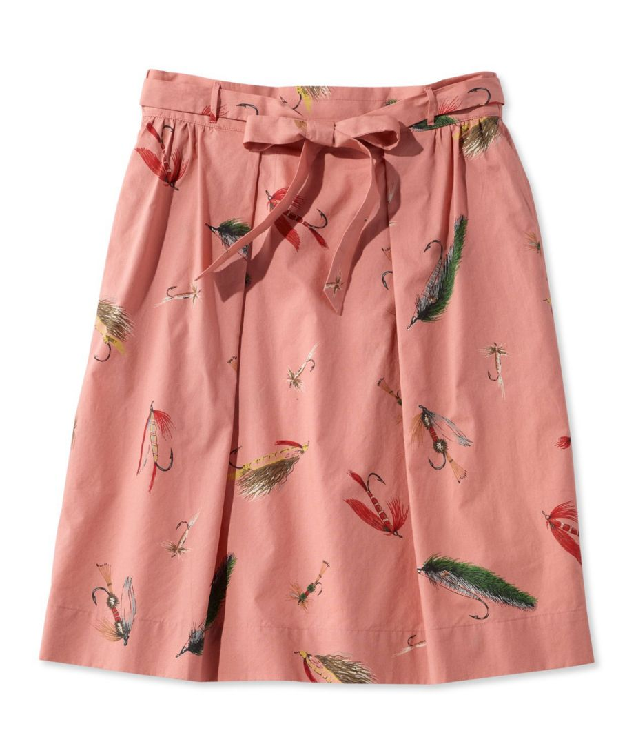Signature Poplin Skirt, Print
