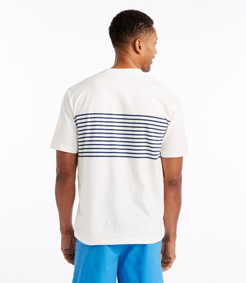 e9f84fdfbeef Men's Carefree Unshrinkable Tee, Traditional Fit Short-Sleeve Stripe