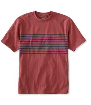 Men's Carefree Unshrinkable Tee, Traditional Fit Short-Sleeve Stripe