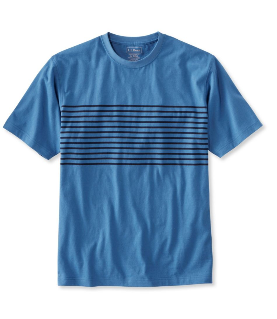 Carefree Unshrinkable Tee, Traditional Fit Short-Sleeve Stripe