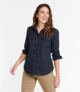 Women's Signature Lightweight Flannel Shirt, Print