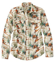 Signature Lightweight Flannel Shirt, Print
