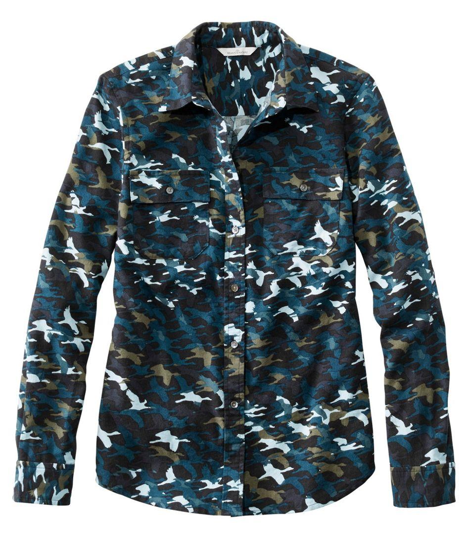 Signature Lightweight Flannel Shirt, Print