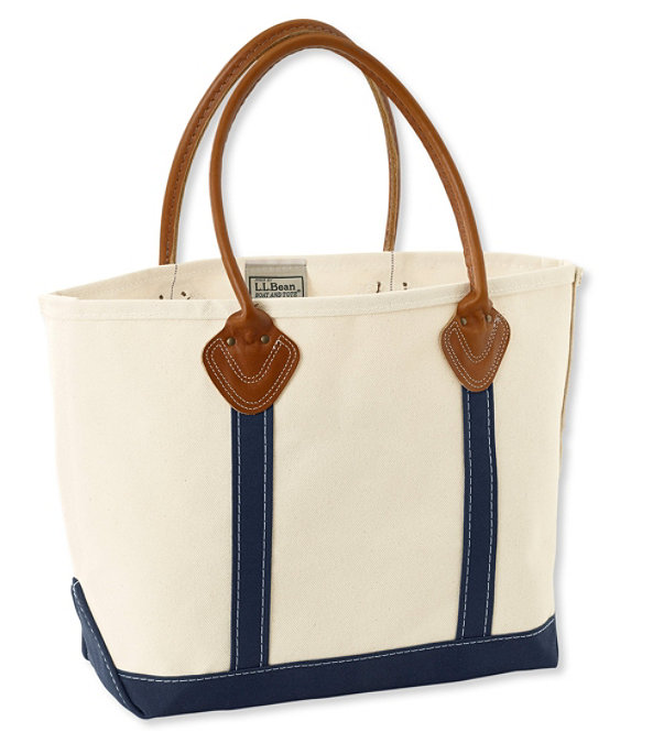 Leather Handled Boat and Tote Bag, Blue, large image number 0