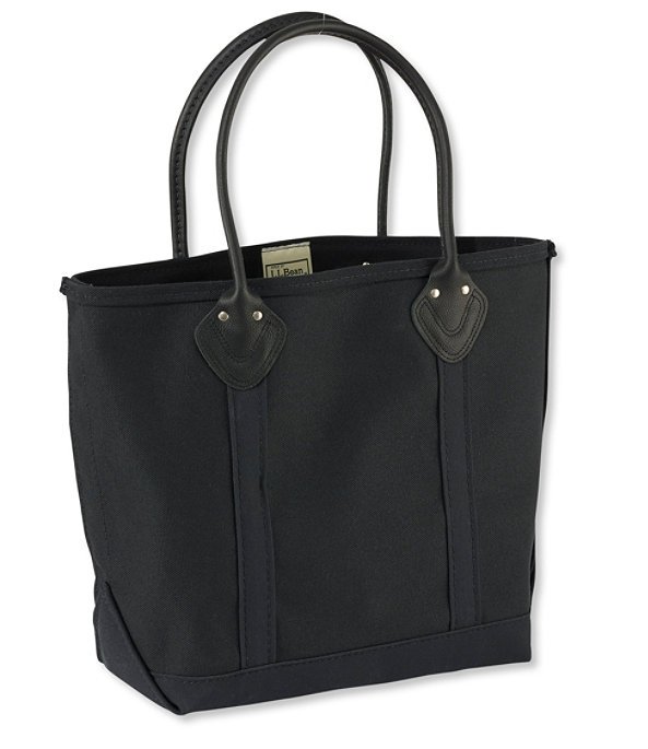 Leather Handled Boat and Tote Bag, Black, large image number 0
