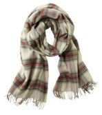 L.L.Bean Wool Scarf, Plaid