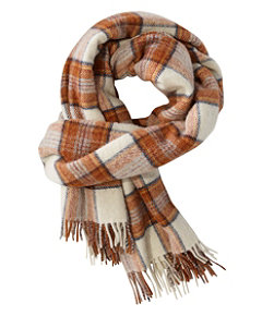 Women's L.L.Bean Wool Scarf, Plaid