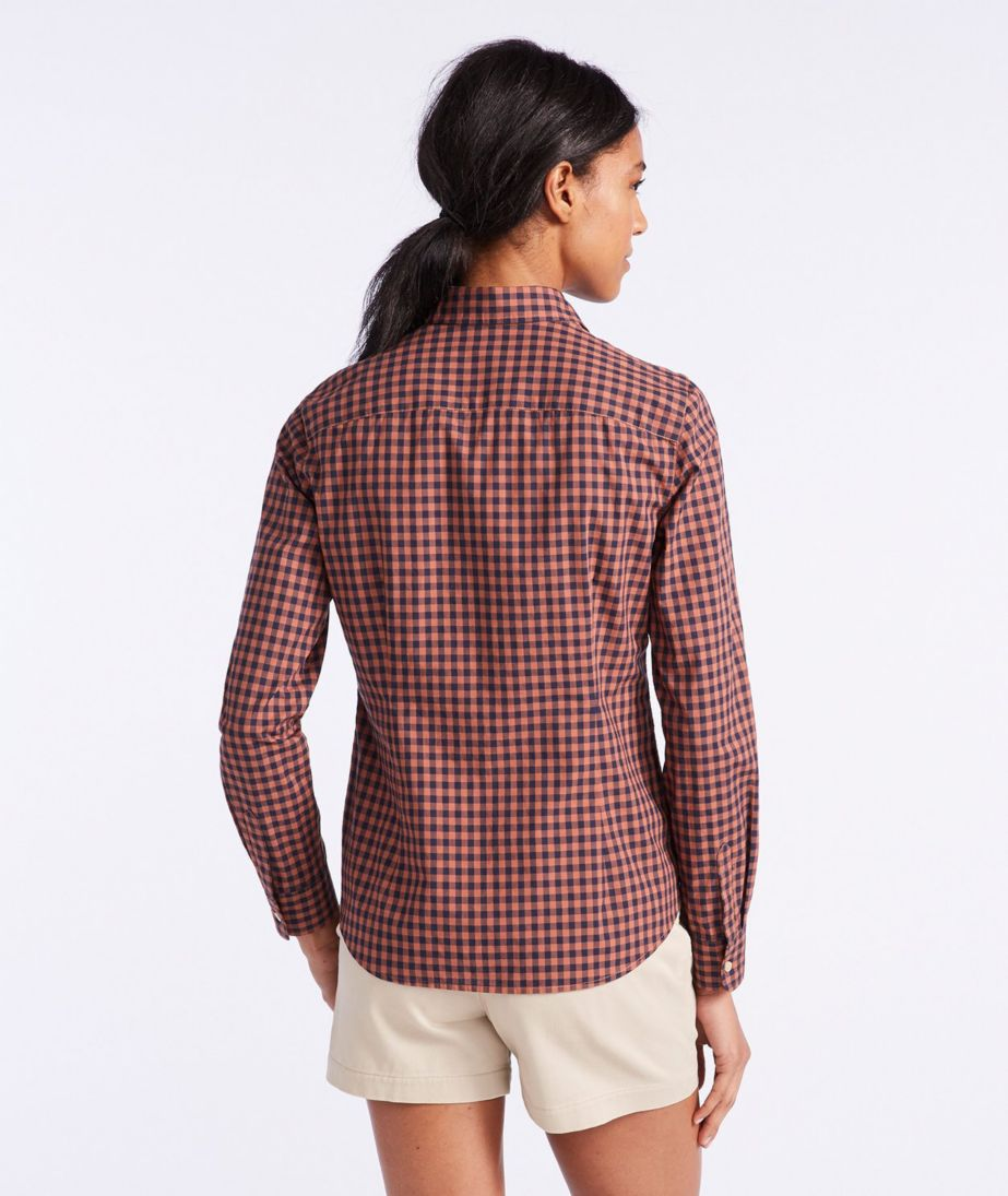 Signature Essential Button-Front Shirt, Check