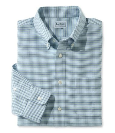 Wrinkle-Resistant Classic Oxford Cloth Shirt, Slightly Fitted Tattersall