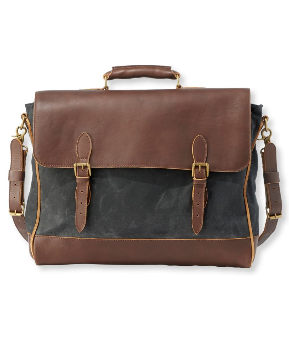 Signature Waxed-Canvas Briefcase