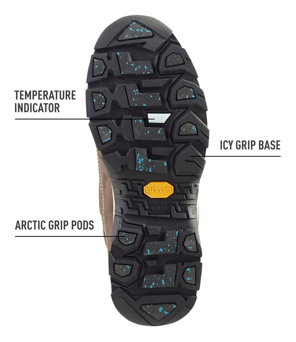 Women's Snow Sneaker with Arctic Grip, Mid Hook-and-Loop