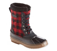 L.L.Bean Lace-Up Print Snow Men's Boots