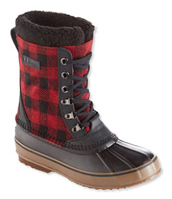 L.L.Bean Snow Boots, Lace-Up Print