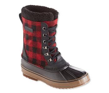 L.L.Bean Lace-Up Print Snow Men's Boots