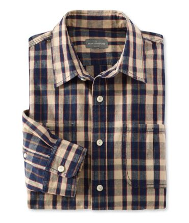Signature Indigo Canvas Shirt, Plaid
