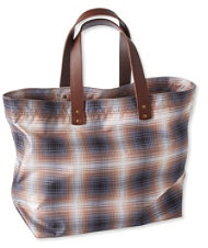 Signature Nylon Tote, Plaid