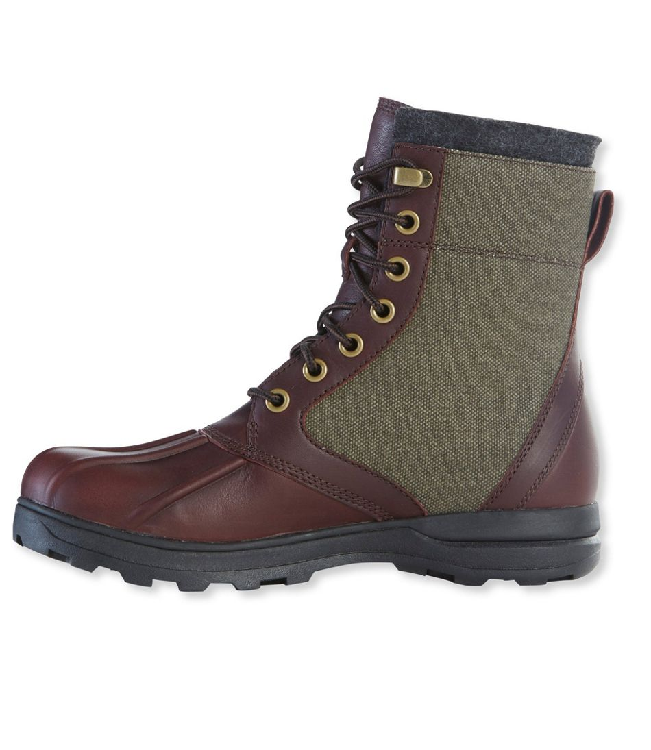 cbe696b9050 Men's Bar Harbor Waterproof Insulated Boots, Leather/Canvas