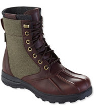 Bar Harbor Waterproof Insulated Boots, Leather/Canvas