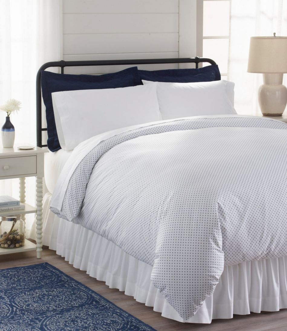 Sunwashed Percale Comforter Cover, Geo Print