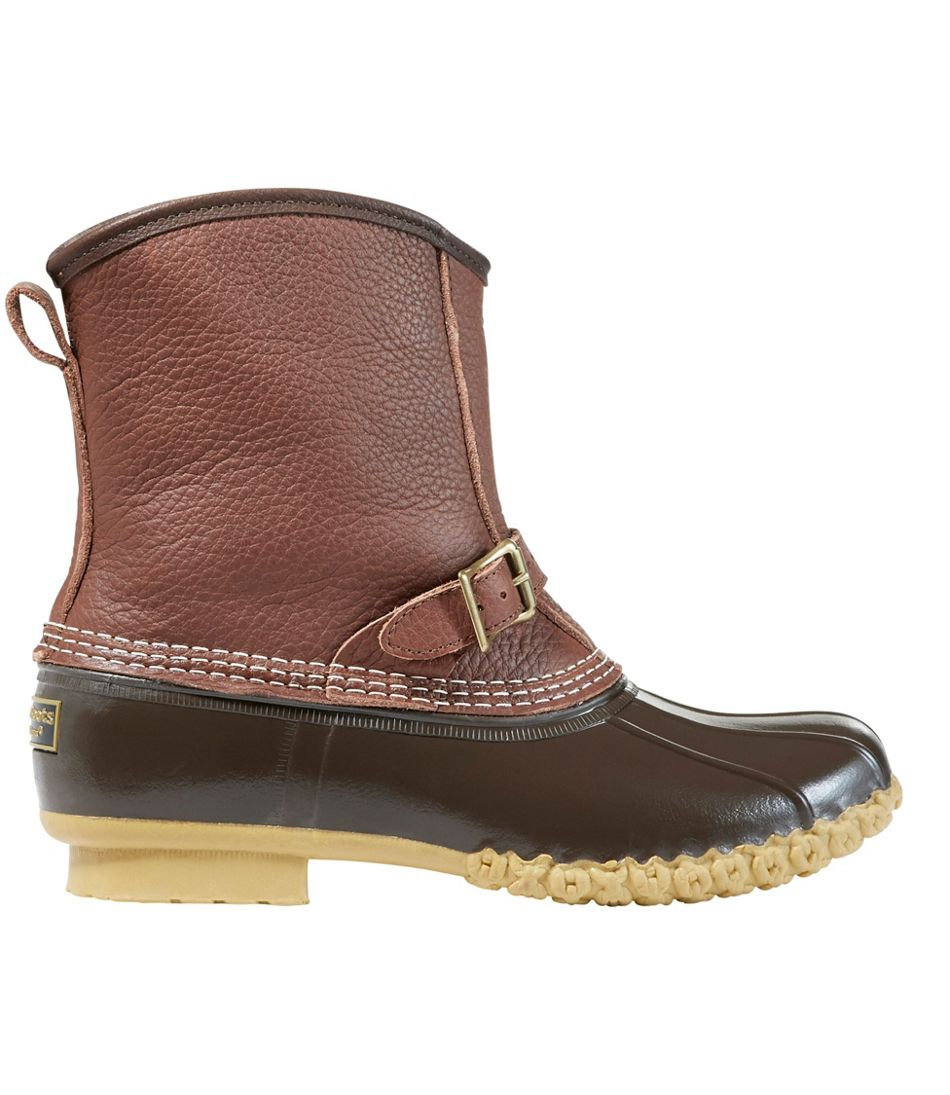 """Men's Bean Boots, 9"""" Lounger Shearling-Lined"""