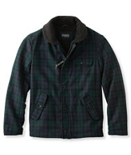 Men's Signature Sherpa-Lined Wool-Blend Jacket, Slim Fit Plaid