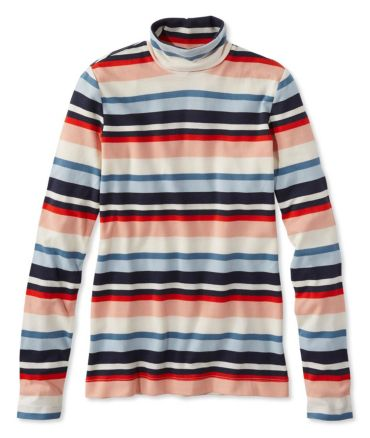 Signature Cotton Turtleneck, Stripe