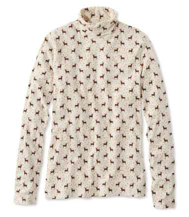 Signature Cotton Turtleneck, Print