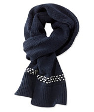 Signature Chunky-Knit Scarf, Bird's-Eye