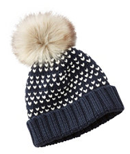 Signature Chunky-Knit Hat, Bird's-Eye