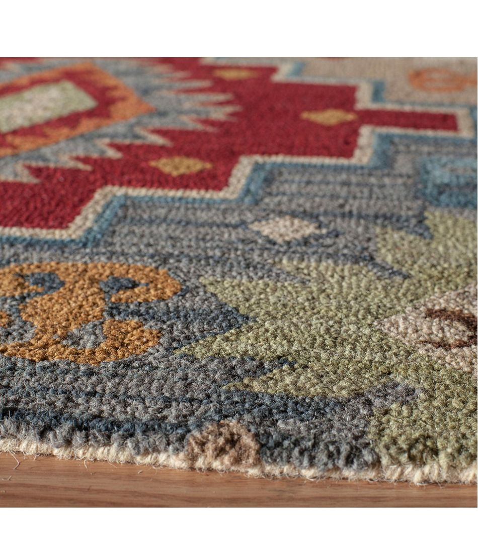 Lodge Wool Hooked Rug