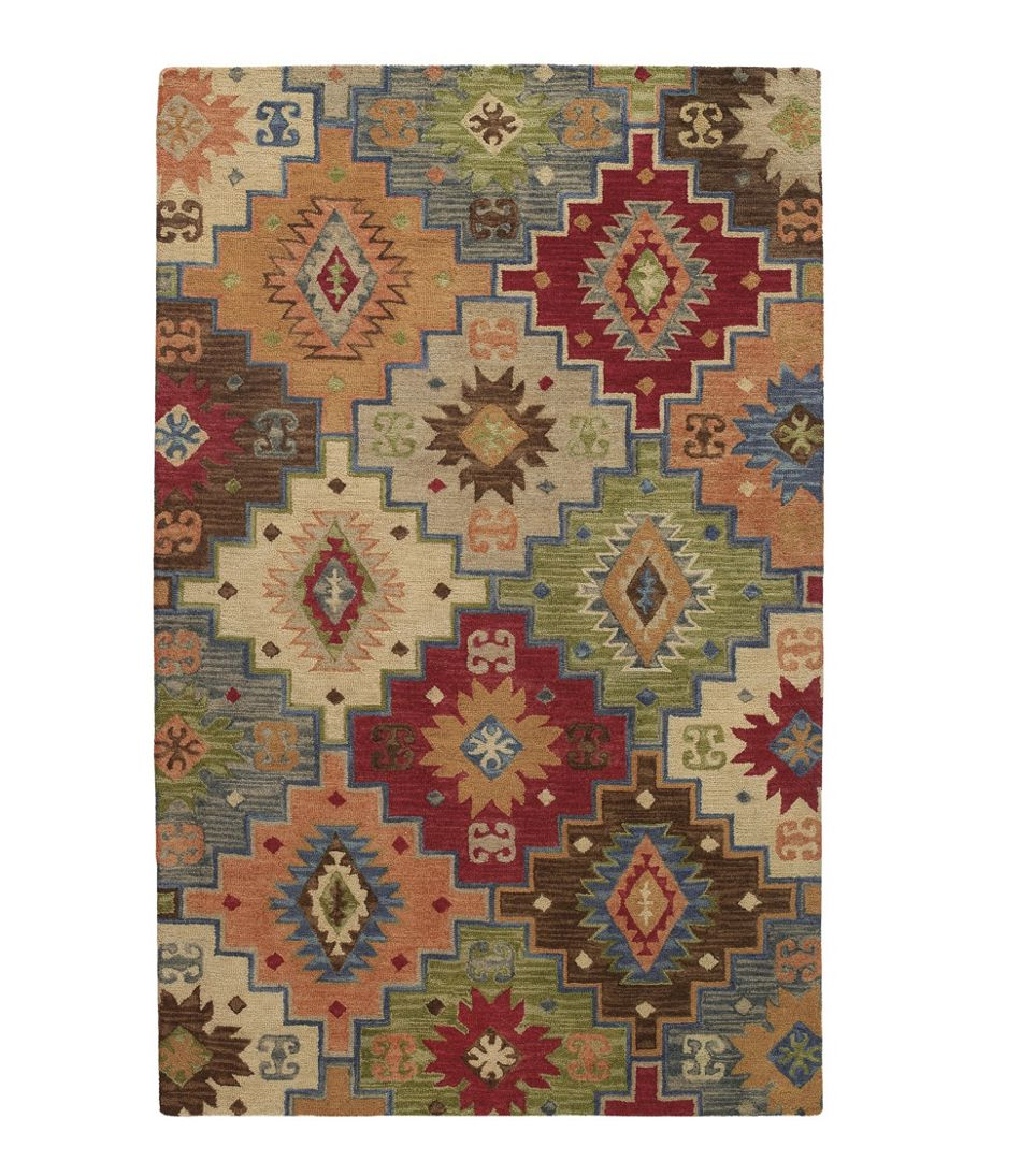 Lodge Wool Hooked Rug
