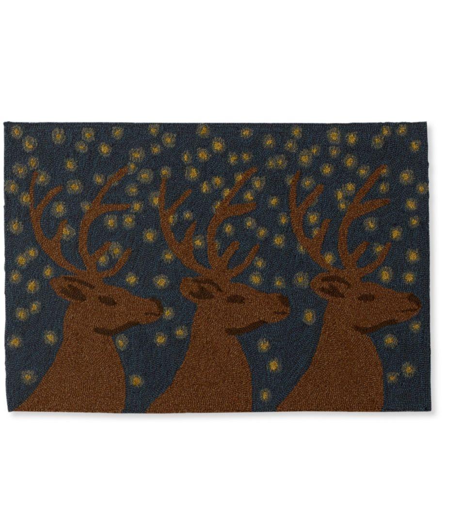Indoor/Outdoor Vacationland Rug, Deer Motif