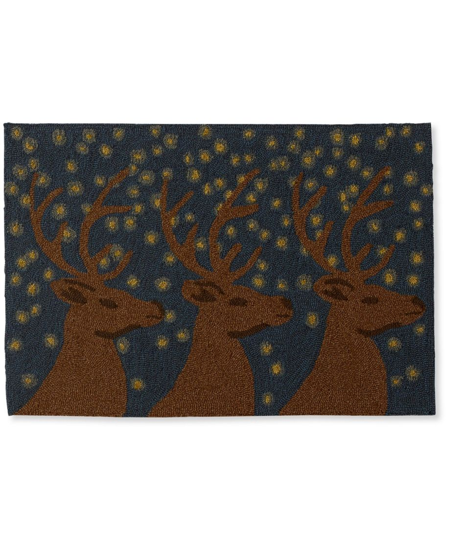 Indoor Outdoor Vacationland Rug Deer Motif