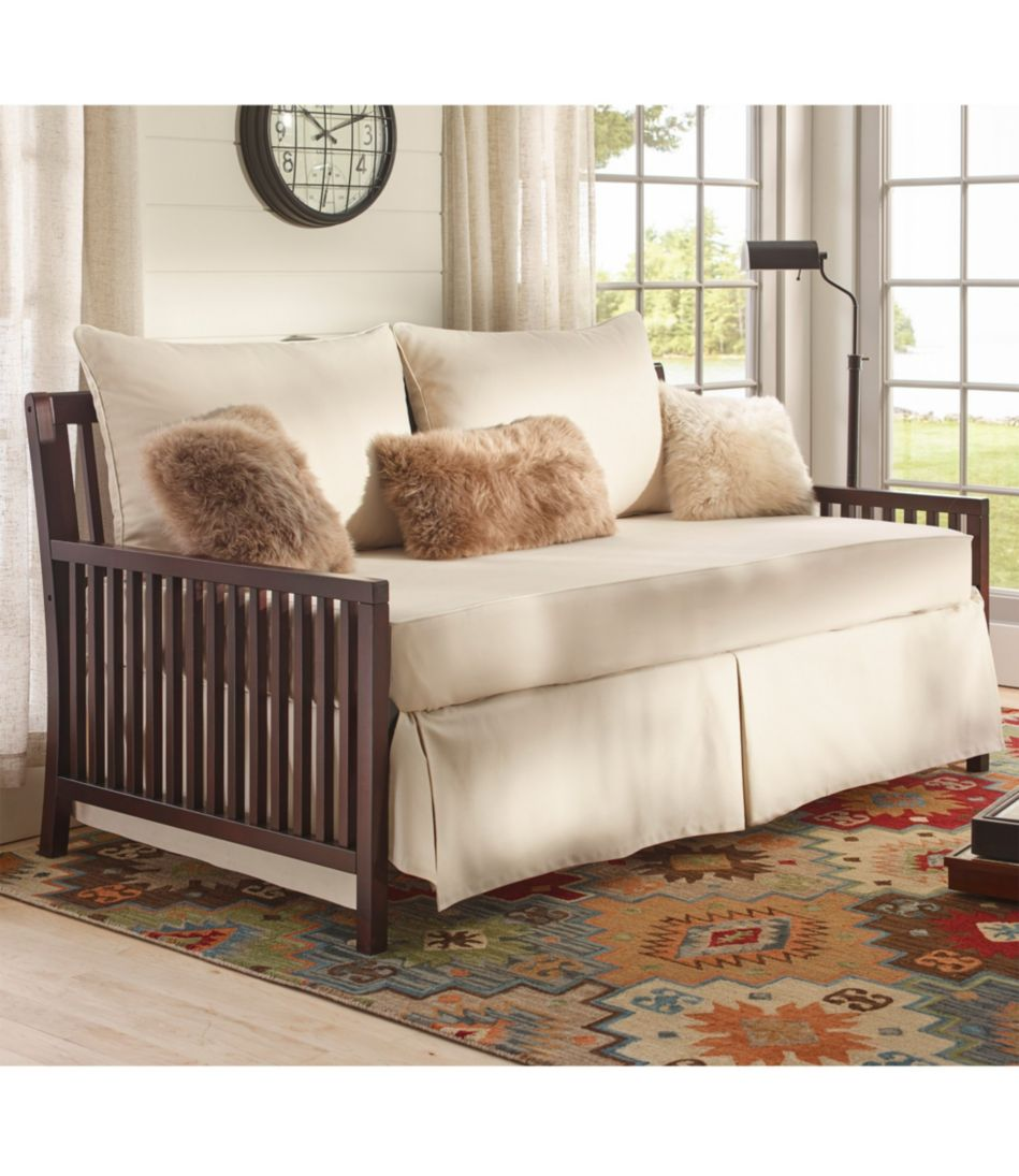 Washable Piped Daybed Slipcover with Skirt