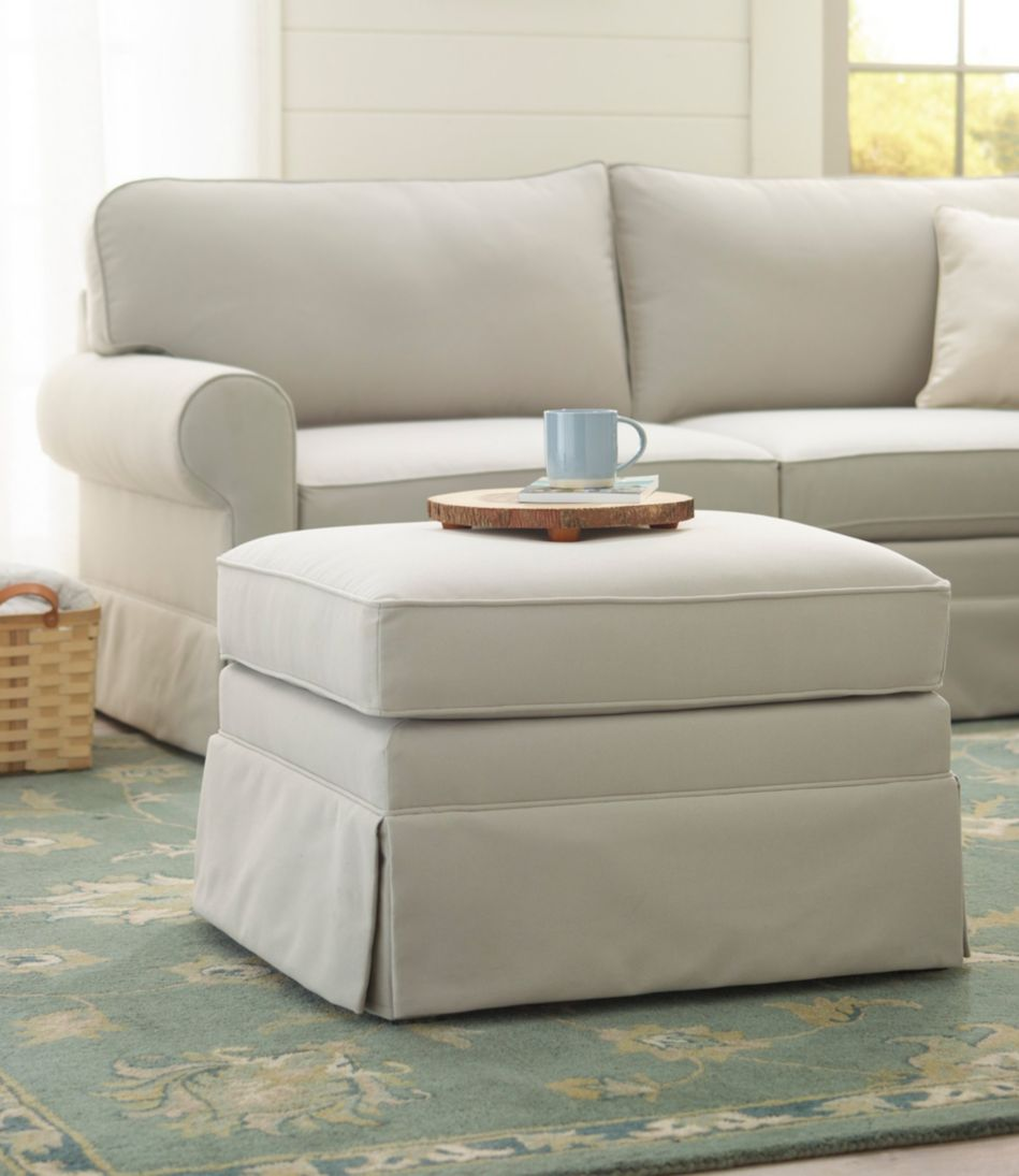 Pine Point Upholstered Ottoman