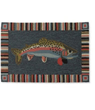 Indoor/Outdoor Vacationland Rug, Trout