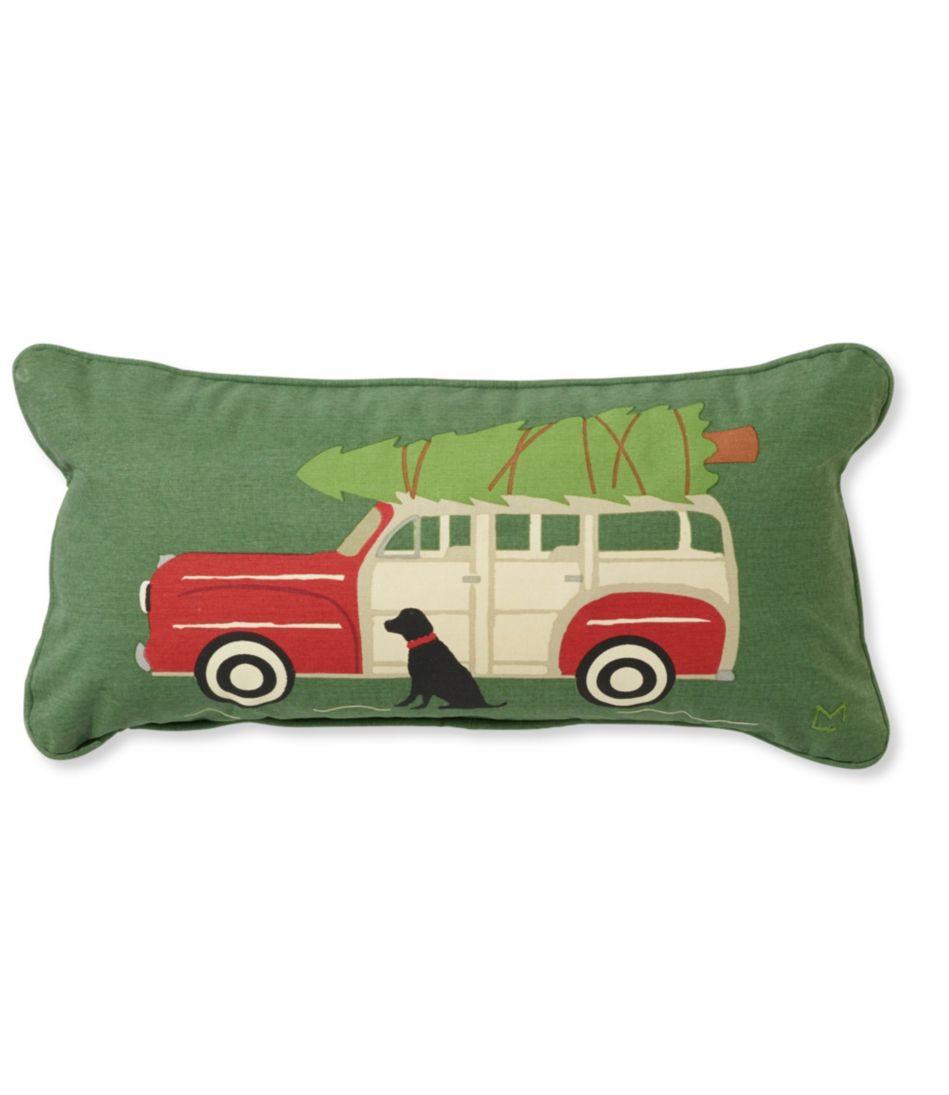 Canvas Throw Pillow, Woody Wagon