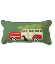 Canvas Throw Pillow, Woody Wagon