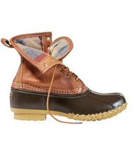 Men's Tumbled-Leather L.L.Bean Boots, Flannel-Lined 8""