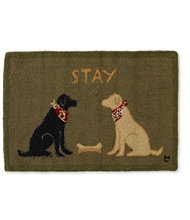 Wool Hooked Rug, Lab Stay
