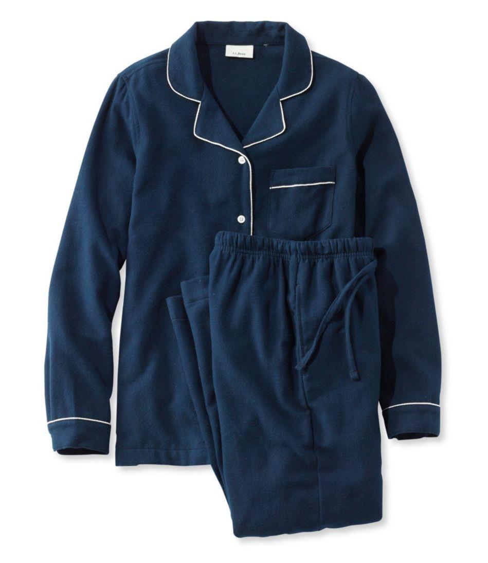 Scotch Plaid Flannel Pajamas, Solid