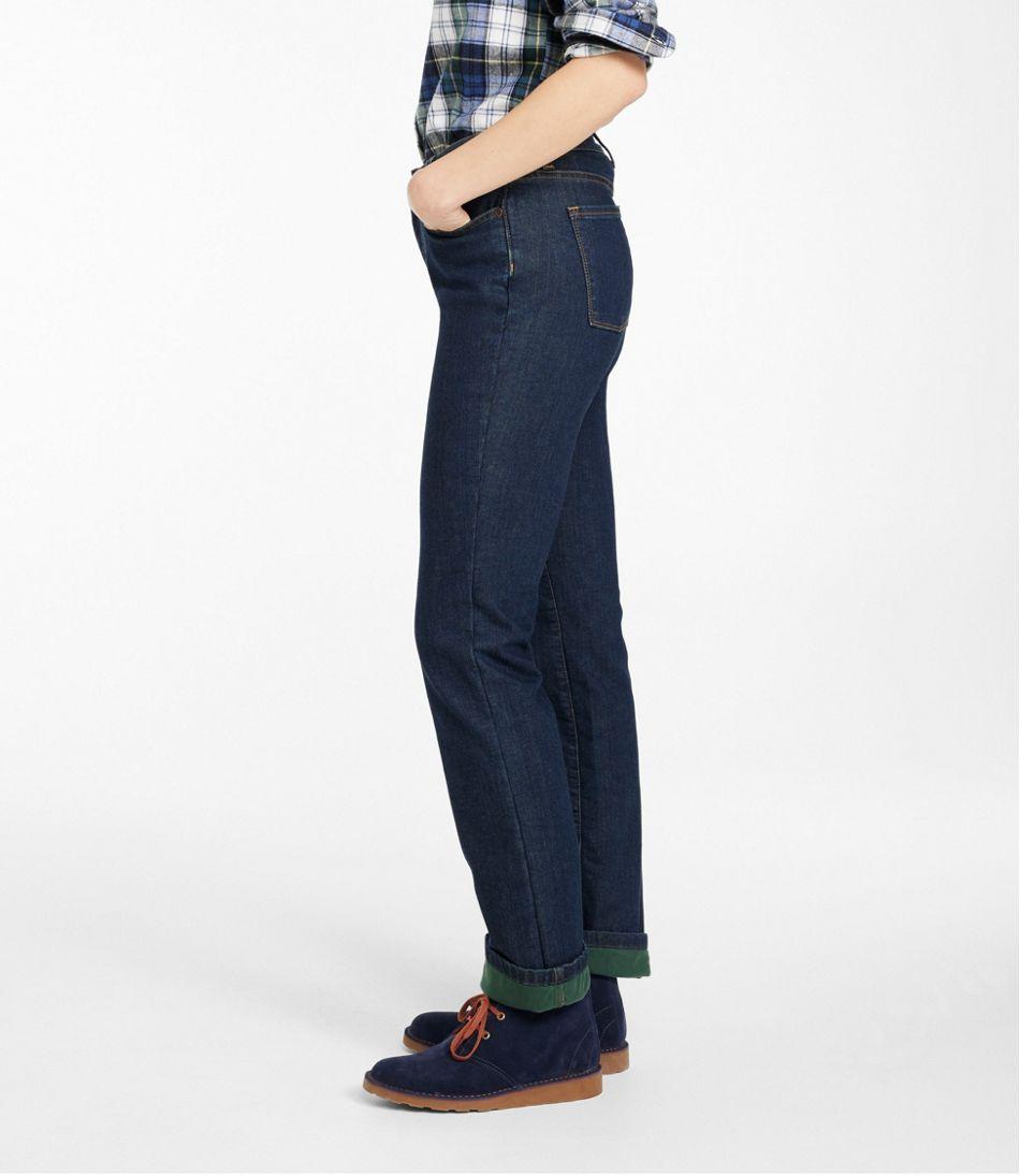 True Shape Jeans, Classic Fit Straight-Leg Fleece-Lined
