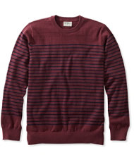 Men's Cotton/Cashmere Sweater, Crewneck Stripe